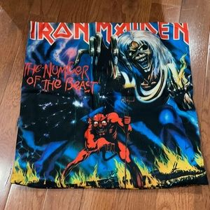 New soft Iron Maiden pillow cover